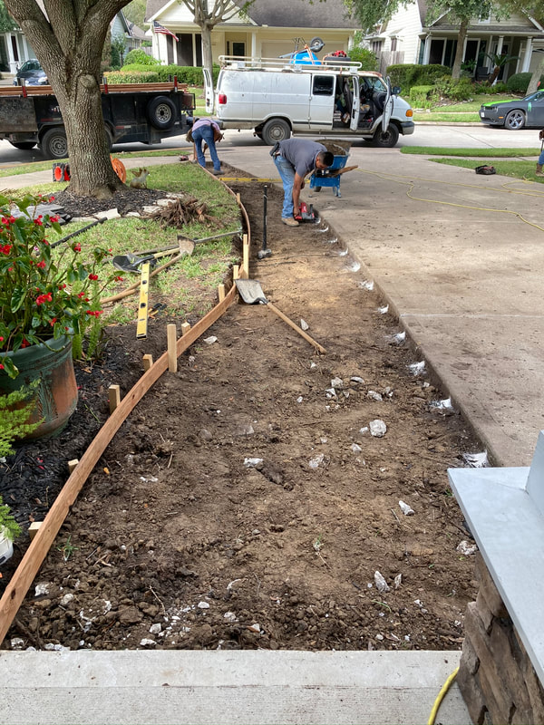 setting forms for concrete driveway extension